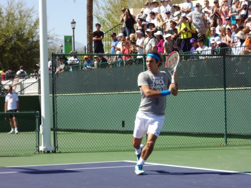 Roger Federer at BNP Paribas Open 2012