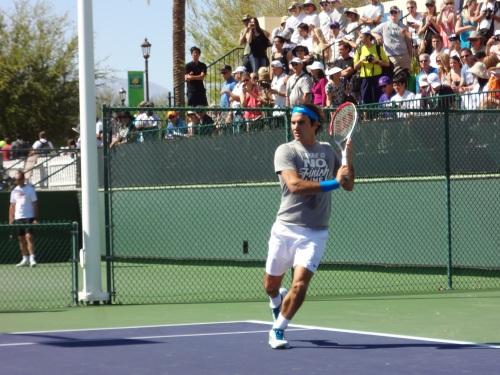 Roger Federer at BNP Paribas Open 2012