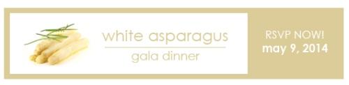 white asparagus gala dinner rsvp