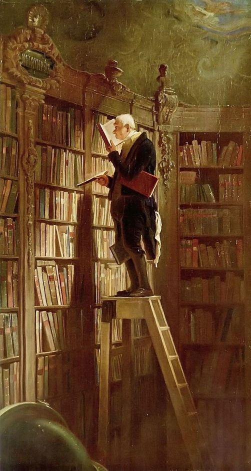 """Carl Spitzweg """"Der Bücherwurm"""""""